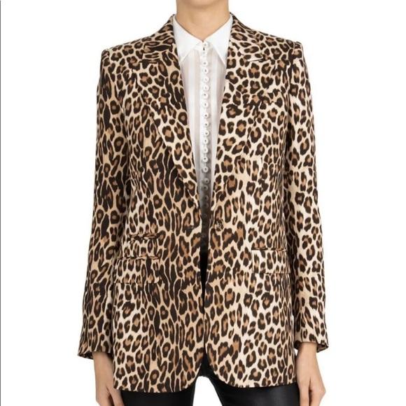 The Kooples Jackets & Blazers - The Kooples peak petal leopard print blazer size 6